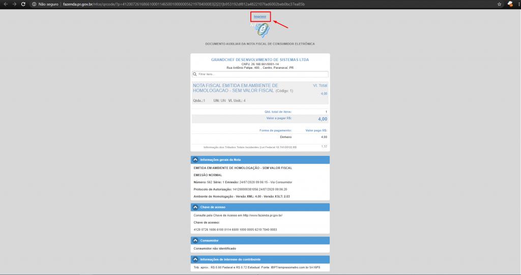 Como visualizar a nota em PDF no Nota Varejo